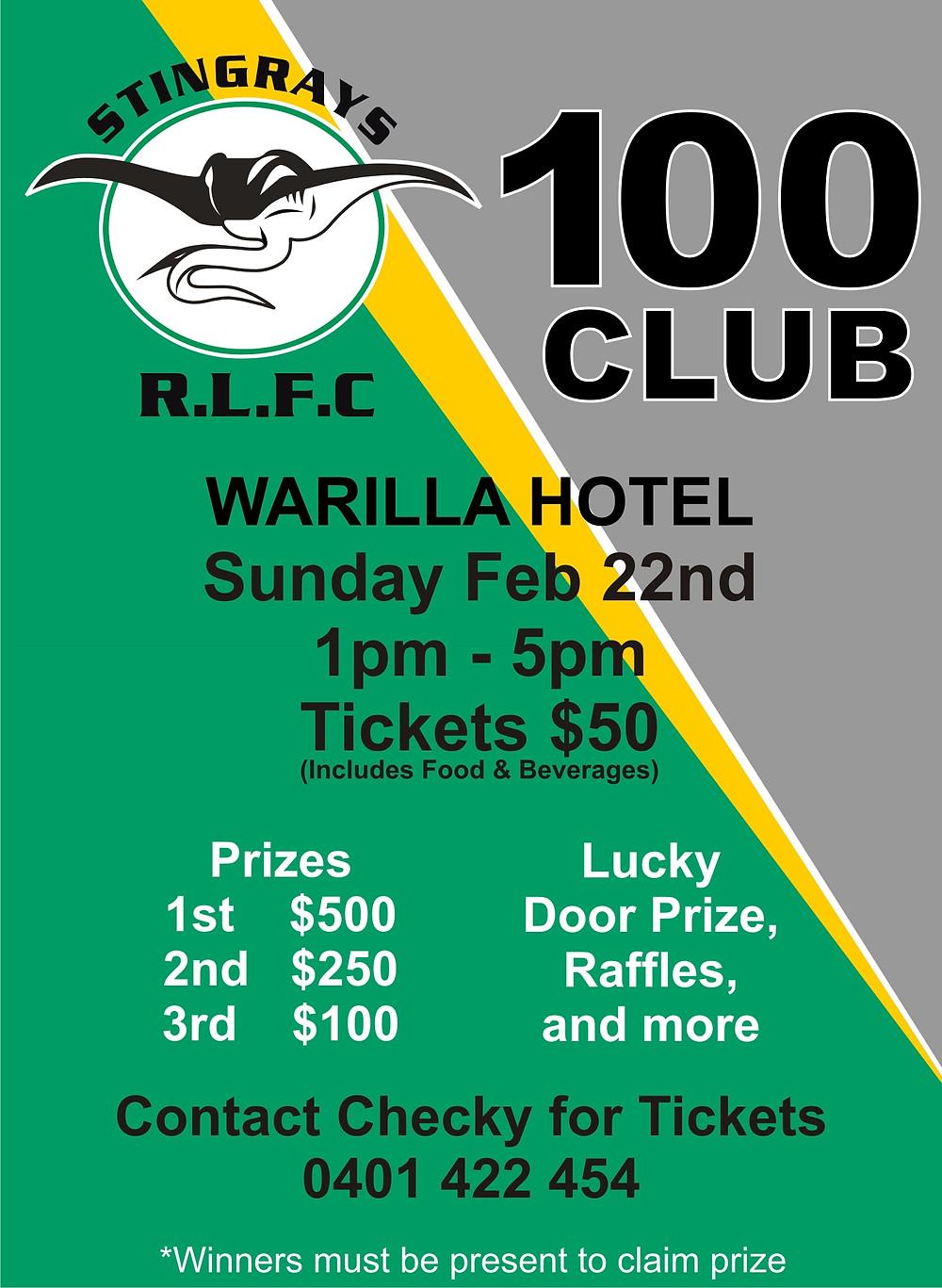 Stingrays 100 Club