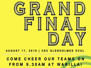 2019 Grand Final Day - Saturday 17th August