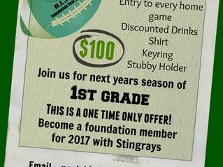 Announcing Stingrays Foundation Memberships
