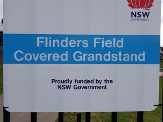 Flinders Field Covered Grandstand Complete