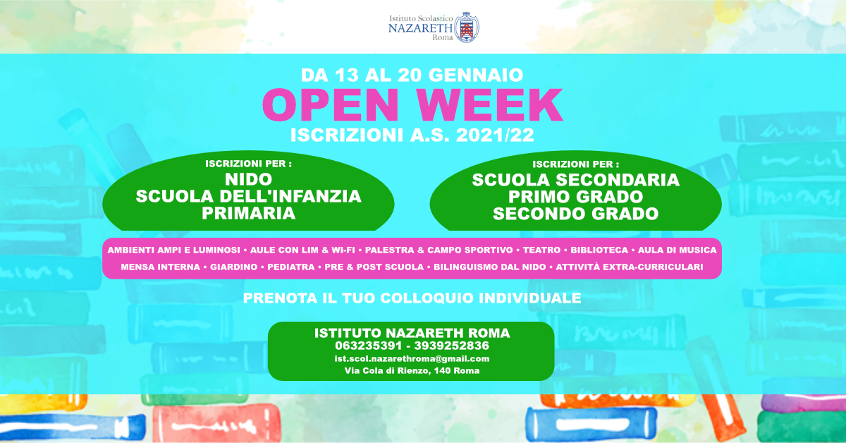 OPEN WEEK ISCRIZIONI A.S. 2021/22