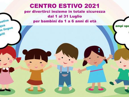 Centro Estivo 2021 • 1-31 Luglio • Istituto Nazareth Roma