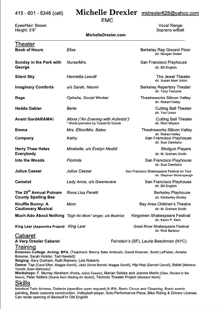 Theater Resume Screenshot.png