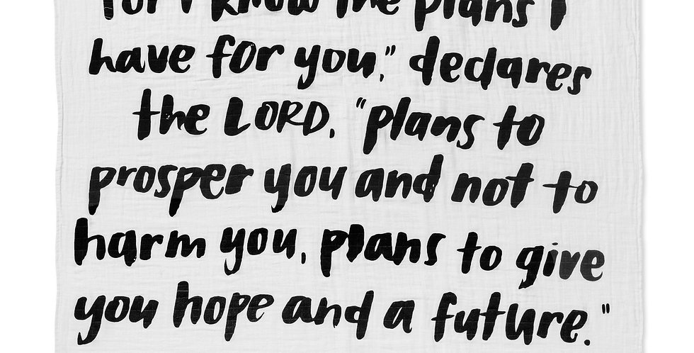 For I Know The Plans I Have For You: Jeremiah 29:11