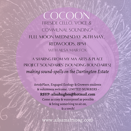 COCOON fireside cello, voice & communal