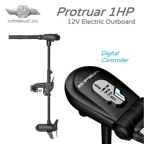 HASWING Protruar 1HP Electric Outboard 12V with Digimax Controller