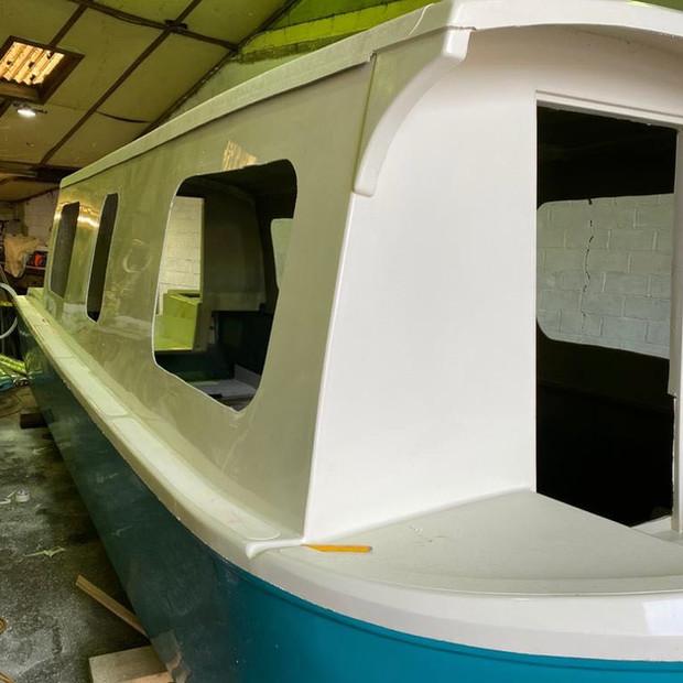 Side window openings cut in