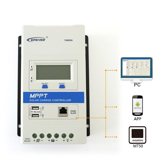 TRIRON MPPT Solar Charge Controller 10 / 20 / 30