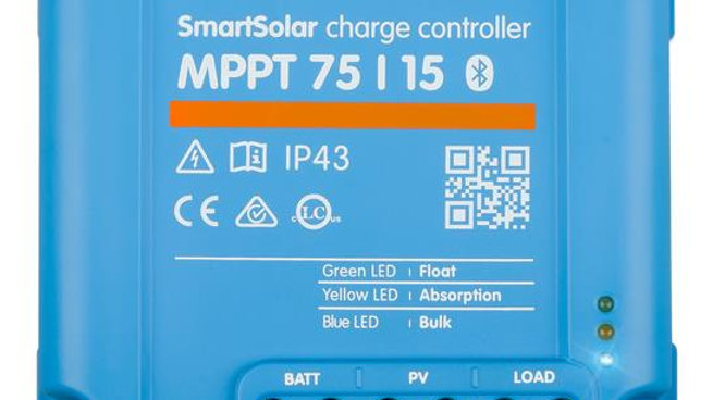 VICTRON BLUESOLAR MPPT 75/15 15A SOLAR CHARGE CONTROLLER FOR SOLAR PANELS UP TO