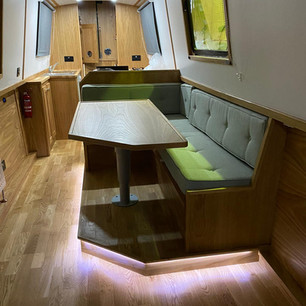 Dinette with low level mood lighting