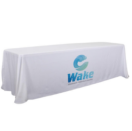 6'/8' Convertible Table Throw (Full-Color Dye Sublimation, Front Only)