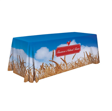 6' Standard Table Throw (Full-Color Dye Sublimation, Full Bleed)