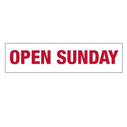 """""""Open Sunday"""" Rider"""