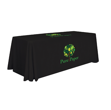 8' Standard Table Throw (Full-Color Imprint, Two Locations)