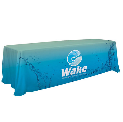 6'/8' Convertible Table Throw (Full-Color Dye Sublimation, Full Bleed)