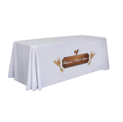 6' Standard Table Throw (Full-Color Dye Sublimation, Front Only)