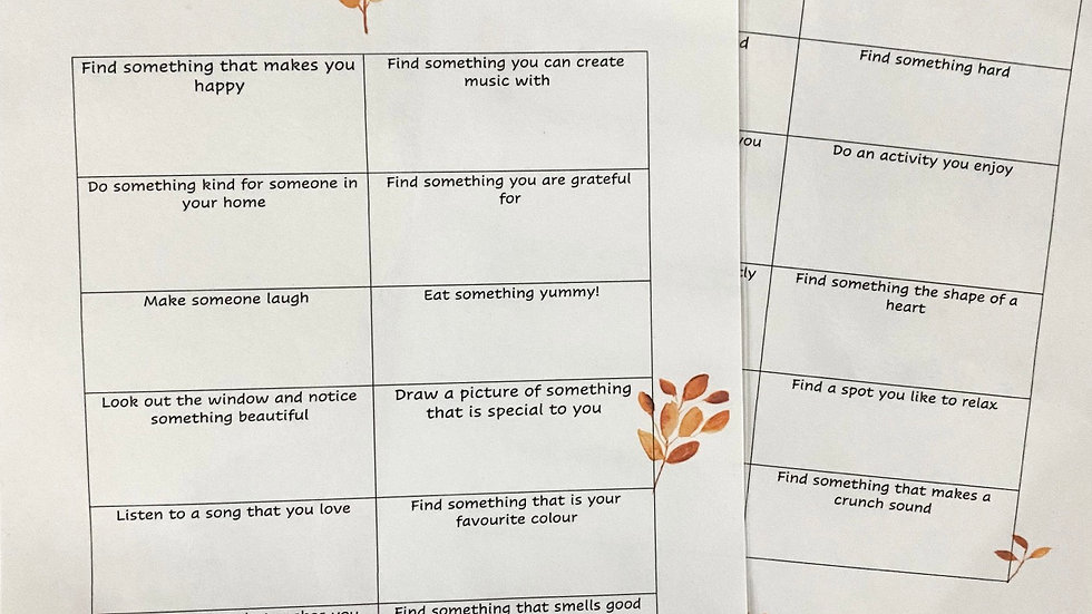 Mindful at home downloadable activity