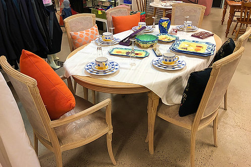 Art Deco/Greco Roman Design Extendable Dining Suite