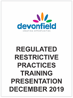 Regulated Restrictive Practices training