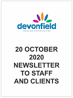 20 October 2020 Newsletter to staff and