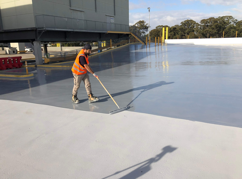 Squeegee application of wproofing layer