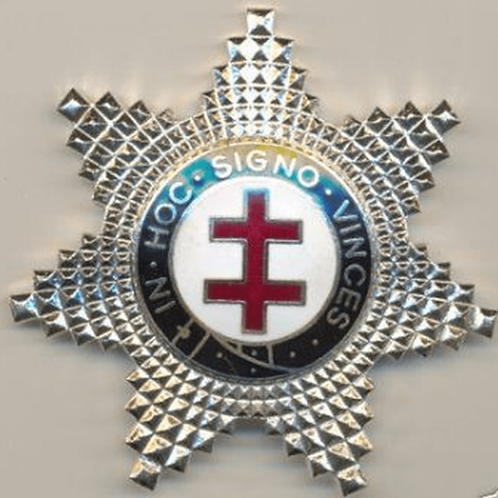 Knights Templar Preceptors Breast Star Jewel