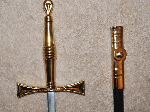 Knights Templar Sword and Scabbard