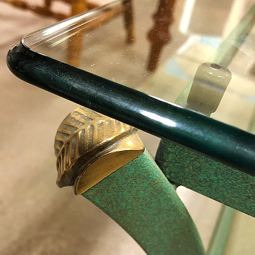 Art Deco Style Metal and Glass Coffee Table