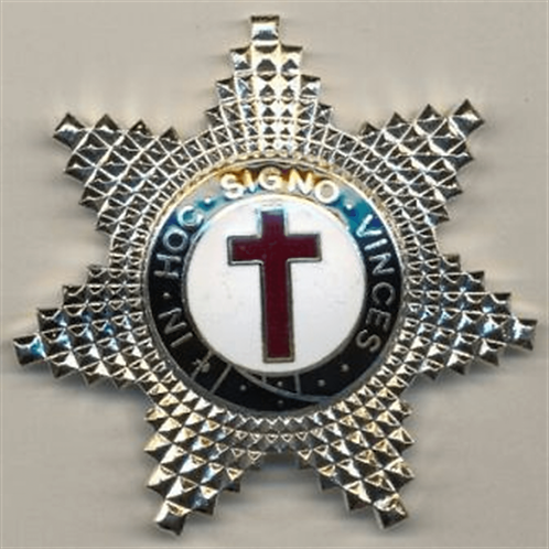 Knights Templar Breast Star Jewel