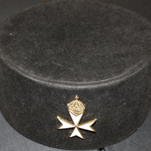 Knights of Malta Commanders Hat & Badge
