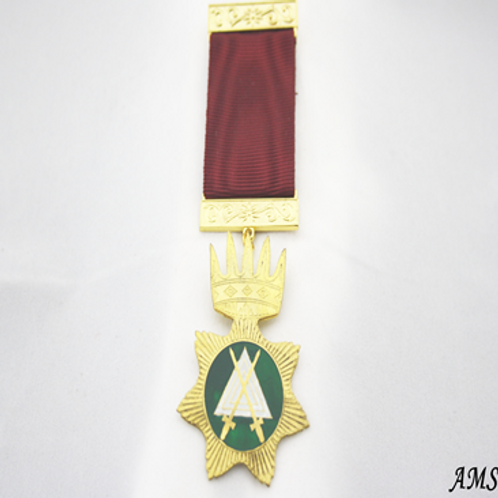 Red Cross of Babylon Breast Jewel