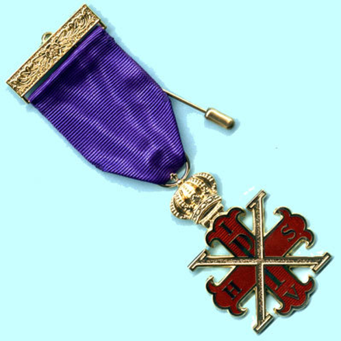 Red Cross of Constantine MW Breast Jewel