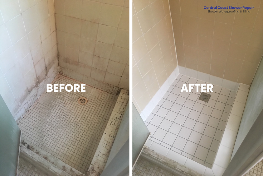 Central Coast Shower Repairs Before & Af