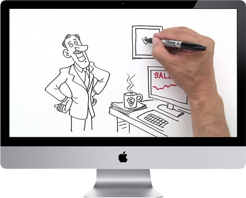 ScribeMe is an animated whiteboard video service for small business
