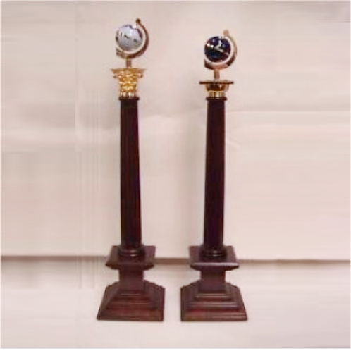 Craft Lodge Set of JW & SW Pedestals