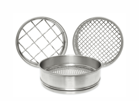 Perforated Plate Sieve 200 mm.dia x 50 mm - 9,50 mm.¢ to 4,00 mm.¢