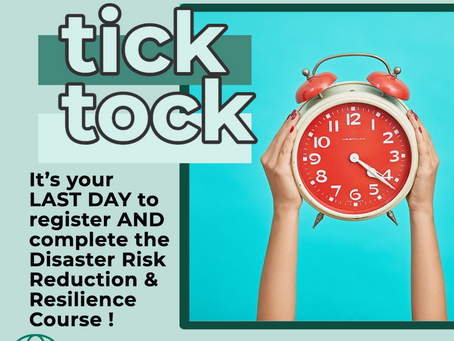 "📢🔥🌪""Disaster Preparedness Course""💨🌊 Update📢"