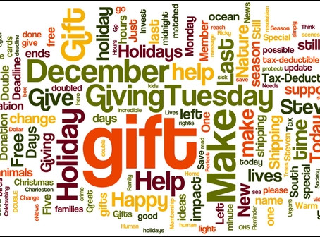 Black Friday. Cyber Monday. Giving Tuesday