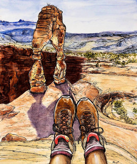 Boots at the Delicate Arch