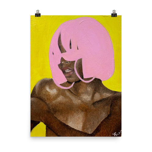 Pink n Yellow Matte Prints
