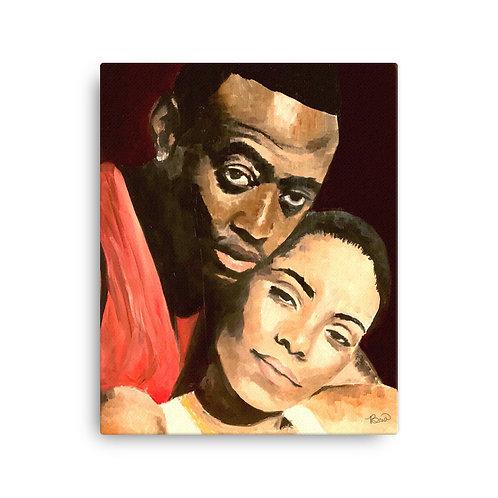 Love and Basketball Canvas Print