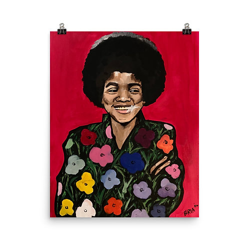 Black Michael Warhol Poster Print