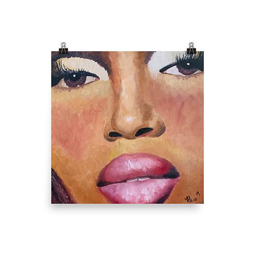 Naomi Campbell Matte Print