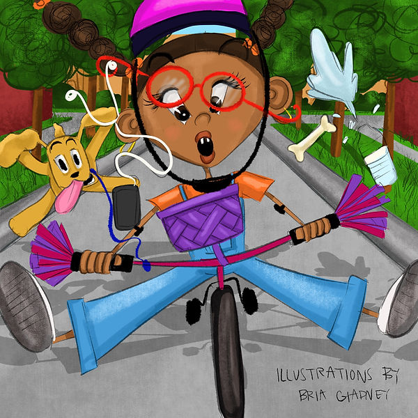 Black Childrens book illustration