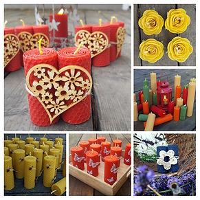 svíčky plástve dekorace