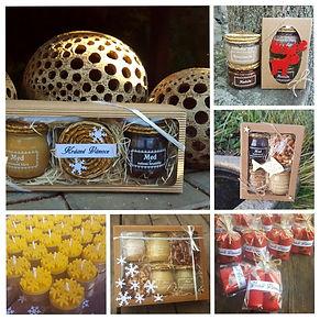 Medová dekorace, svíčky