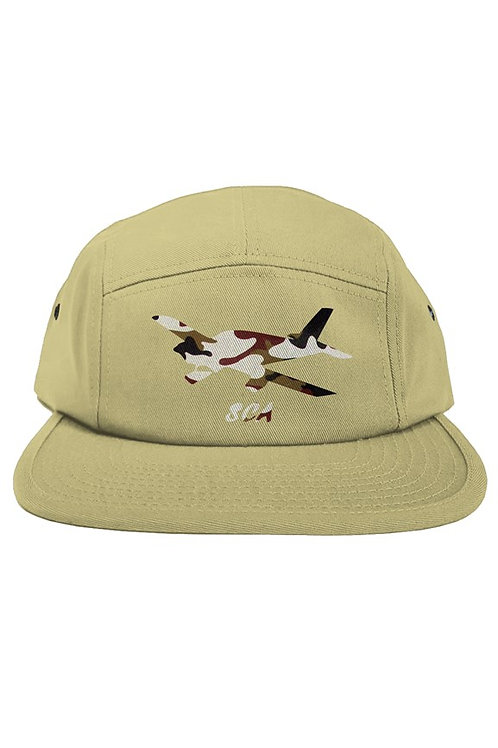 sca five panel tan hat
