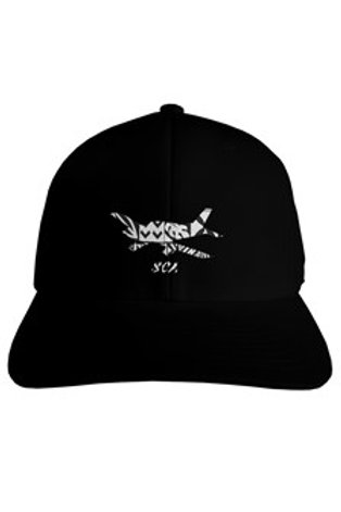 sca black fitted hat