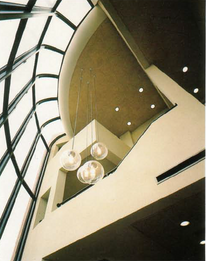 Entrance interior to offices, Barjac Dev