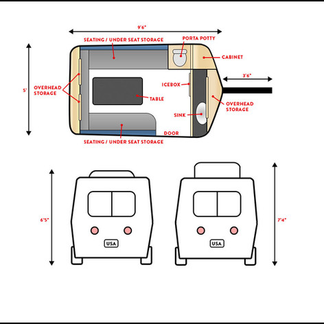 My Little Trailer Floorplan